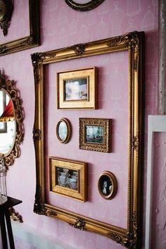 European Decor, Cheap Home Decor, Decorative Crafts, Cute Ideas, Gallery  Walls, Townhouse, Vignettes, Larger, Frames