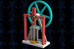 Steam Engine VI Mechanism - STEP / IGES,SOLIDWORKS,Parasolid - 3D CAD model - GrabCAD