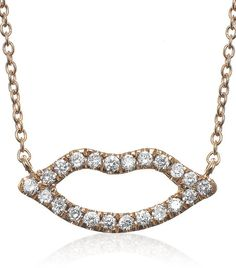 Open Lips Diamond Necklace discovered on Fantasy Shopper Pretty Necklaces, Fashion Jewelry, Gems, Bling, Chain, Diamond, Fantasy, Beautiful, Style