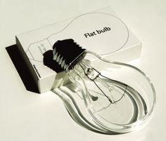 Not sure where this would come in handy, but very cool. Flat Light Bulb by Joonhuyn Kim via selectism