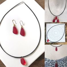 A personal favourite from my Etsy shop https://www.etsy.com/au/listing/488760462/red-seaglass-earrings-and-choker-boho