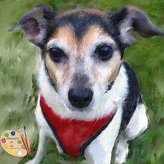 Portraits by NC.com Painted Pet Portraits #rat #dogs #pets #animals #painting #portrait #handmade #custom #gifts https://portraits-by-nc.com/products/rat-terrier-portrait-392