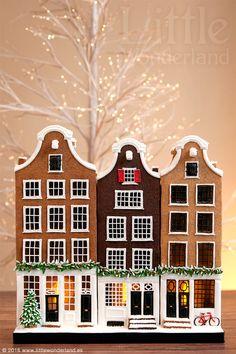 Casitas holandesas de jengibre y chocolate