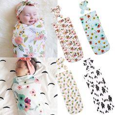 6529Cm Baby Blanket Bedding Cover Boy Girl Muslin Cotton Swaddle Warp Headband