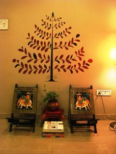 Wall art. Indian HouseIndia DecorEthnic DecorWall CollageDecor ... & Indian Home Decoration Ideas Simple Indian Culture | Interior Design ...