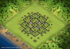 Th8 Townhall 8 Farming Clash of Clans Layout created by Ramboy Sabandal. Try it out in the attack simulator, see previous attacks or modify it with the base builder