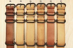 20mm 22mm 24mm Handmade Vintage Nato Zulu PVD Leather Watch Strap for Panerai, Seiko, Pilot, etc