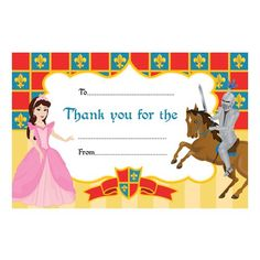 Castle Thank You Notes