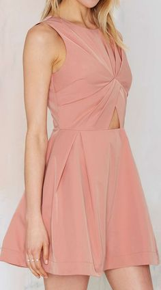 blush cutout dress