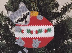 Christmas Ornaments Plastic Canvas Pattern, via Etsy.