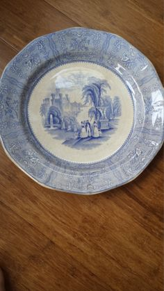 "1834 - Podmore Walker & Co. Spartan Pattern Dinner Plate 9 1/2"" by 3LittleWitches on Etsy"