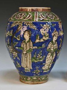 Honesty Large Antique Moser Gold Hand Painted Turkish War Battle Scene Cobalt Vase Urn Bowls Glass