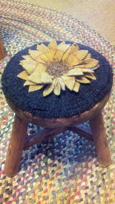 Hooked Sunflower Stool