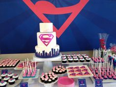 LOOOVE This Navy Pink Supergirl Party