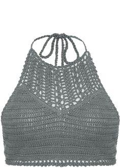 Essential halterneck crochet bikini top
