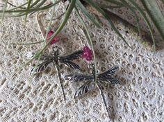 Dragonfly Gemstone Earrings Choose Citrine Peridot by GloriaJanell
