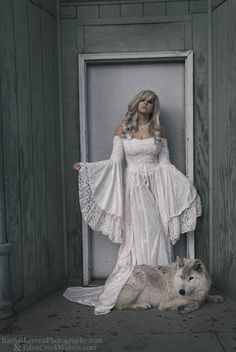 if fleetwood mac made wedding dresses, I would wear this but only if I get to keep the wolf