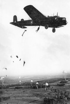A Whitley bomber later in the war that was used for paratrooper training