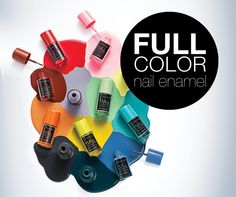 Rich colors with one stroke... Choose your favorite Full Color Nail Enamel! #nail #nailart #beauty #nailcare #flormar #fullcolor #nailenamel #pink #green #mint #blue #red