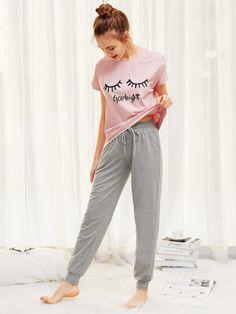 Pajama Outfits, Lazy Outfits, Teen Fashion Outfits, Cute Outfits, Ootd Fashion, Fashion Dresses, Cute Pajama Sets, Cute Pajamas, Pajamas Women