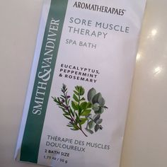 FREE GIFT WITH $14 PURCHASE (Spa Bath Salts) Sore Muscle Therapy (Eucalyptus, Peppermint & Rosemary) - Spa Bath Salts.  All natural. Other