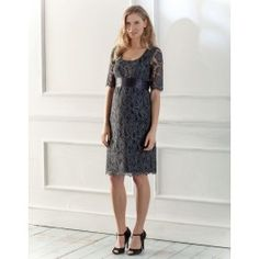 LOVE it!!!   Dark Navy Luxe Lace Dress by Seraphine $315