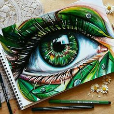 Drawings, amazing drawings, colorful drawings, amazing artwork, art s Art Drawings Sketches Simple, Pencil Art Drawings, Realistic Drawings, Colorful Drawings, Cool Drawings, Amazing Drawings, Sketch Drawing, Arte Sketchbook, Eye Painting