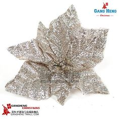 dress up Christmas tree decorate adornment package 20 cm silver, wrought iron powders flower 14 ornament crafts decor natal -- Want additional info? Click on the image.