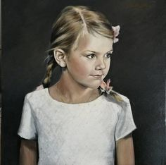 Painting of Princess Estelle made by artist Gabriella Norum