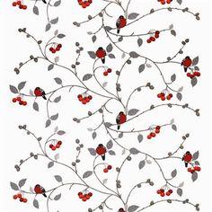 Bereid uw huis voor op Kerstmis met de mooie Paradisäpplen stof van Arvidssons Textil, ontworpen door Mialotta Arvidssons-Mars. De stof is gemaakt van fijn katoen en heeft een leuk patroon met kleine appels en goudvinken, dat een teken is voor de Zweedse winter! Gebruik de stof als gordijn en combineer met andere stoffen van Arvidssons Textil!