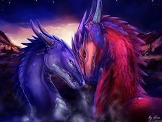 The night of dragons by Trioza.deviantart.com on @DeviantArt