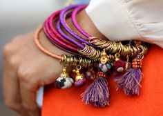love the colorful bracelets with tassels