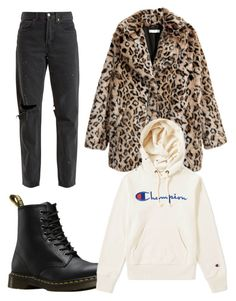 """Bella"" by fionameehan on Polyvore featuring RE/DONE, Dr. Martens and Champion"