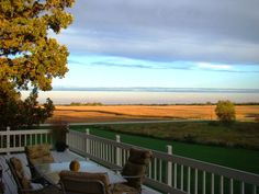 Autumn view from the deck at our 'old house' in the country in Waupun, WI.