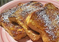 Disney Copycat French Toast Recipe is to DIE for! We made these into French toast sticks by cutting the bread before soaking them in the cinnamon solution and it made them 10 times better! If that's even possible...!