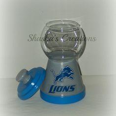 Detroit lions candy jar