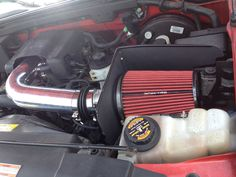 Cold air intake installed