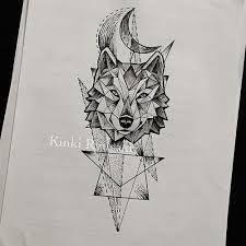 geometric wolf tattoo - Pesquisa Google