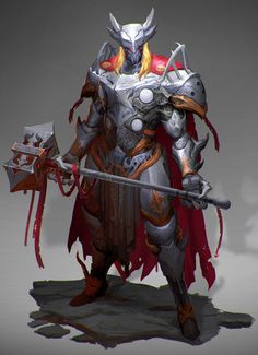 Awesome Fantasy-Inspired Redesigns Featuring Thor, Captain America, and Black Panther — GeekTyrant Marvel Dc, Marvel Heroes, Marvel Films, Marvel Cinematic, Avengers Characters, Fantasy Characters, Armadura Medieval, Knight Armor, Evil Knight