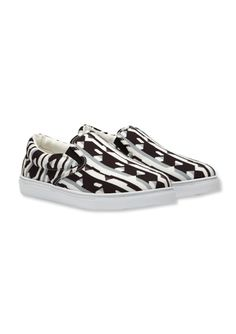 Preview the Peter Pilotto x Target Collection - Slip-On Shoe in Black/White Print from #InStyle