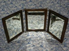 Antique Tri Folding Hinged Vanity/Shaving Mirror by PrettyOldFinds, $189.00