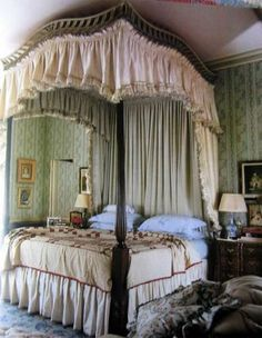 4 Post Bed Curtains king canopy bed drapes | cal king queen poster canopy bed, for