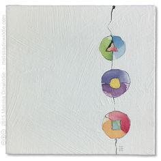 """Sold! Color Wheels - 6"""" x 6"""" abstract daily painting by Melissa Dinwiddie"""
