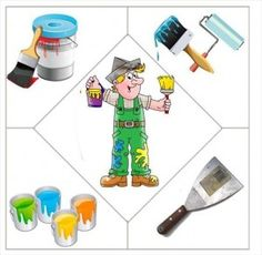 wall painter puzzle | Crafts and Worksheets for Preschool,Toddler and Kindergarten