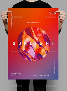 Sunlight Poster / Flyer Template - Clubs & Parties Events