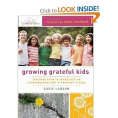 """This book should just be called """"Become a grateful Person"""". Its very convicting, but also a good reminder that the number one way to teach gratefulness and generosity and contentment is to BE grateful, generous, and content."""