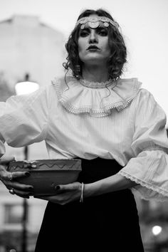 and designer Dorin Negrau (romanians) Flapper Girls, Girl Style, Girl Fashion, Ruffle Blouse, Passion, Inspirational, Pictures, Shirts, Outfits