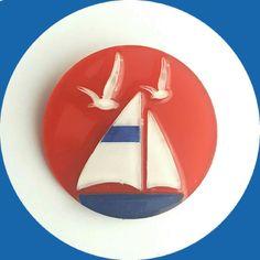 Sail Boat Brooch, Vintage Inspired, Novelty brooch, Rockabilly, Pinup, Sailor…