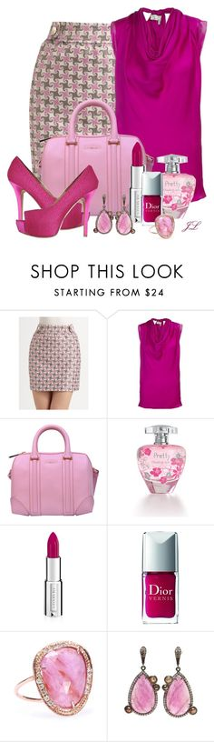 """""""Shades of Magenta"""" by jenalind ❤ liked on Polyvore featuring Vineyard Vines, Lanvin, Givenchy, Elizabeth Arden, Christian Dior, Jacquie Aiche, Loree Rodkin and Gianna Meliani"""
