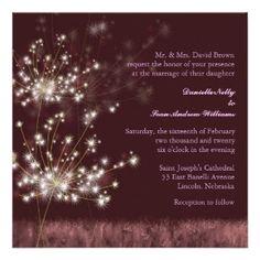 Glowing Twilight Dandelion Fall Wedding Invitation by Zazzle Designer Bridal Heaven  #zazzle #enchangedforest #wedding #weddingstationery